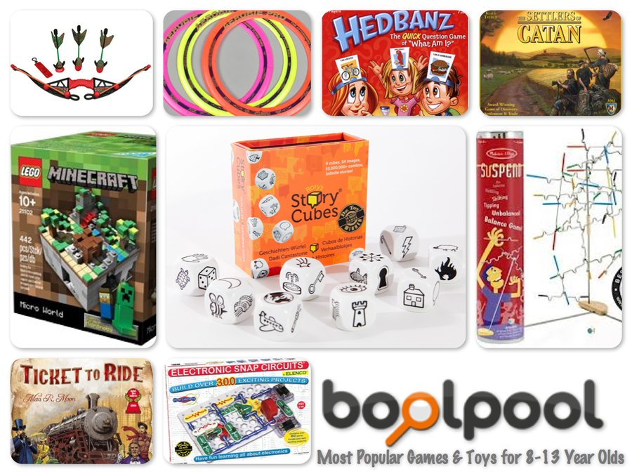Reviews of Top 10 Most Popular Games and Toys for 8-13 Years Old Kids