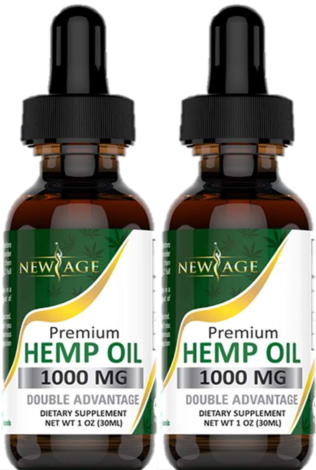 Hemp Oil Extract for Pain & Stress Relief - 1000mg of Organic Hemp Extract - Grown & Made in USA (2-Pack)