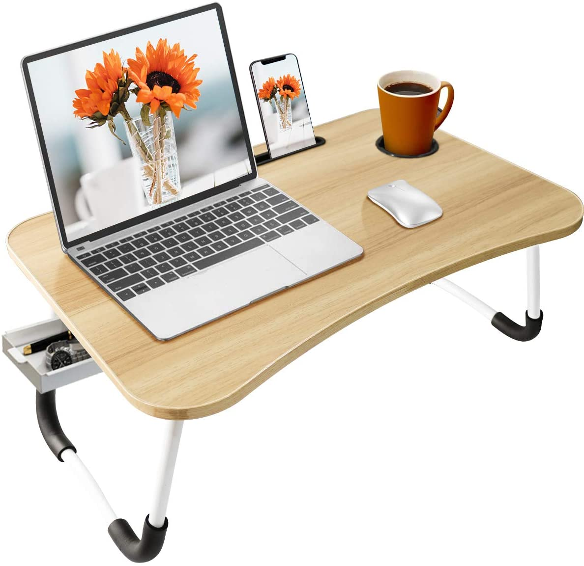 Review of BOPUROY Laptop Desk Foldable Bed Table Portable Multi-Function Lap Bed Tray Table