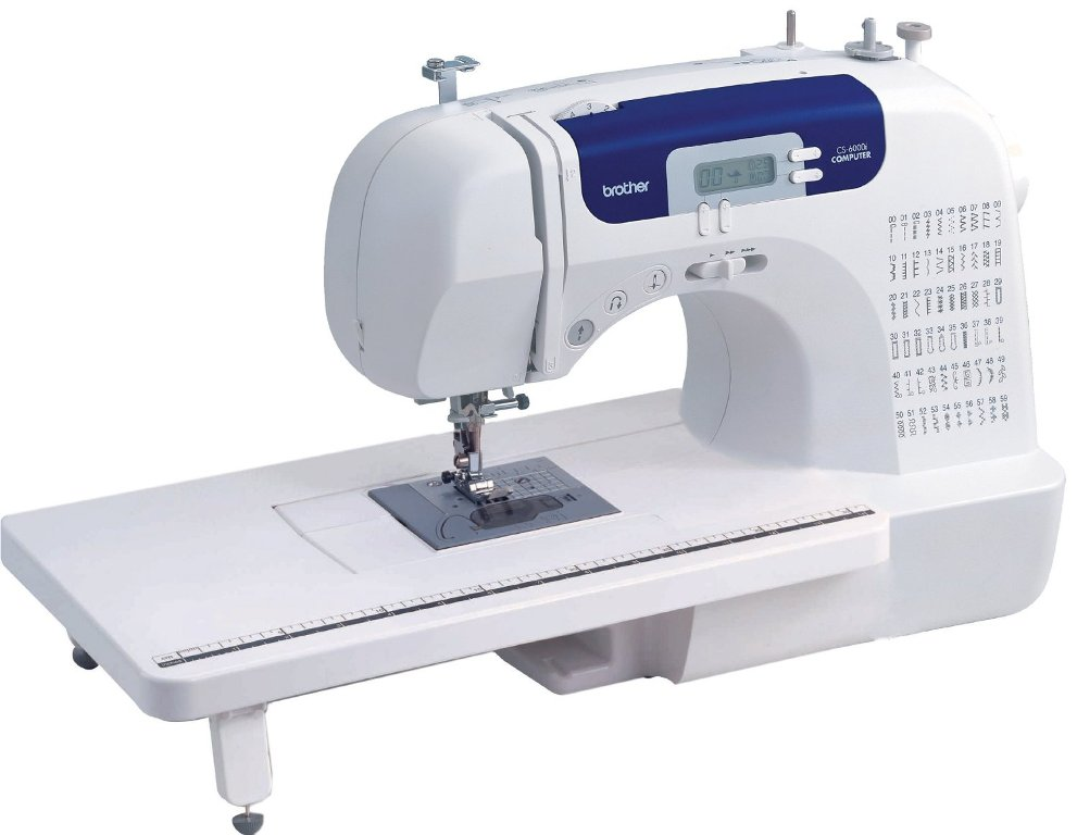 Brother CS6000i 60-Stitch Computerized Sewing Machine with Wide Table - Reviews of Top 10 Sewing and Embroidery Machines and Supplies - Be Your Own Designer