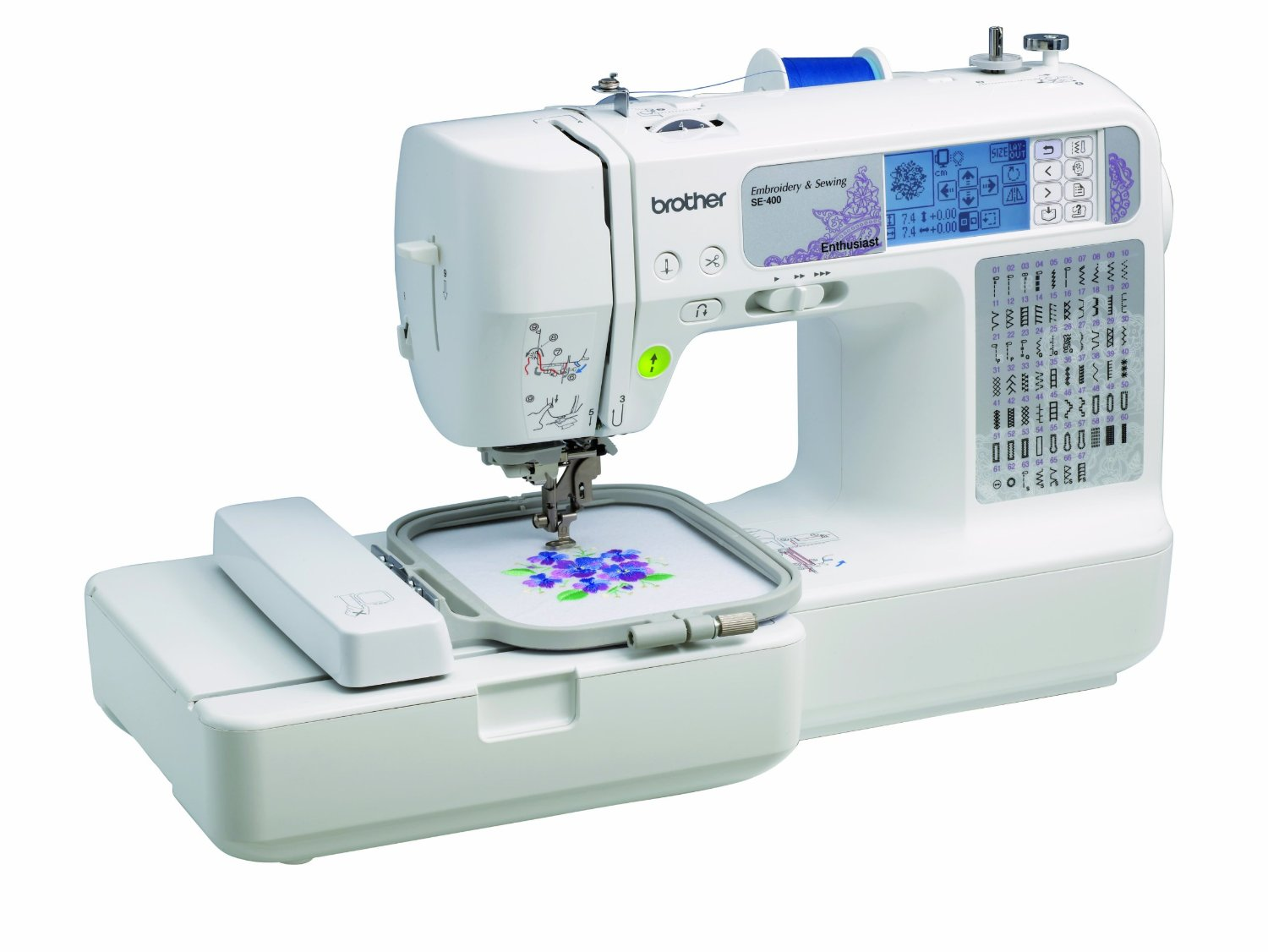 Brother SE400 Computerized Sewing and 4x4 Embroidery Machine - Reviews of Top 10 Sewing and Embroidery Machines and Supplies - Be Your Own Designer