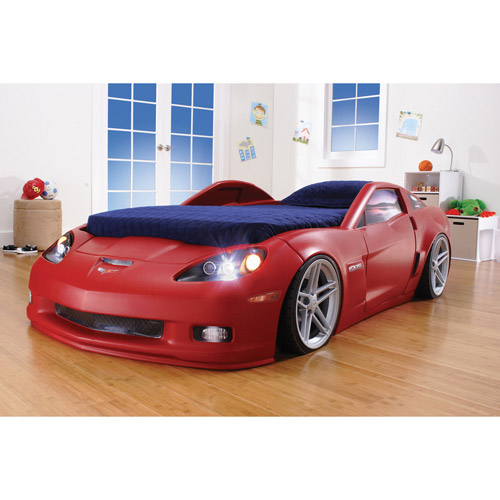 Step2 corvette convertible toddler to twin bed with lights