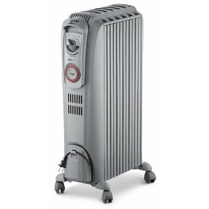 DeLonghi TRD0715T Safeheat 1500W Portable Oil-Filled Radiator with Vertical Thermal Tunnels