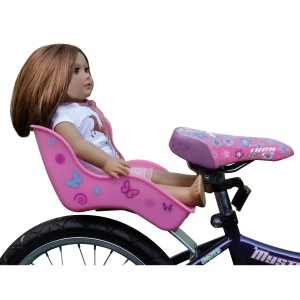 Doll Bicycle Seat - Ride Along Dolly- Bike Seat with Decorate Yourself Decals
