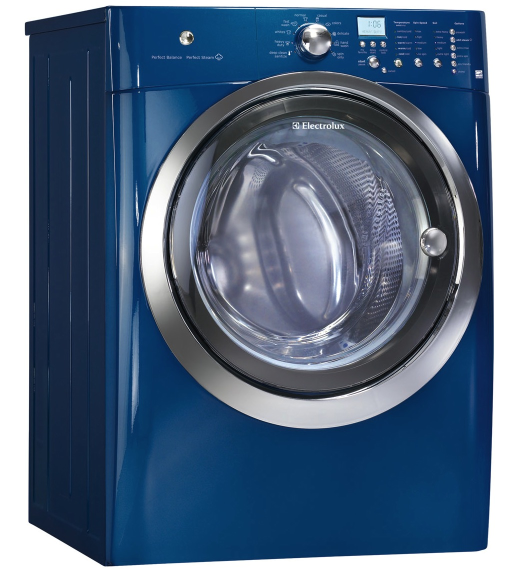 Electrolux 4.2 cu. ft. Front Load Steam Washer - IQ-Touch Control Model: EIFLS55IIW (Island White) and EIFLS55IMB (Mediterranean Blue)