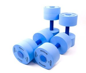 Exervo Aqua Fitness Pool Dumbells Heavy Resistance Pair - Enjoy your summer! Reviews of Top 10 Swimming Pools and Accessories