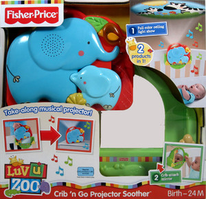 Review of Fisher-Price Luv U Zoo Crib 'N Go Projector Soothe ...