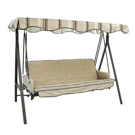 Review of Garden Treasures 3-Seat Steel Traditional Cushion Hammock Swing (Model: SC-GSN)