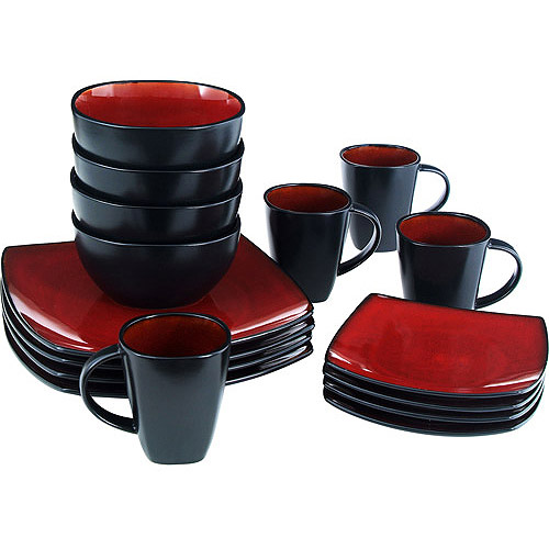 Review of Soho Lounge Square 16-Piece Dinnerware Set (Gibson ...