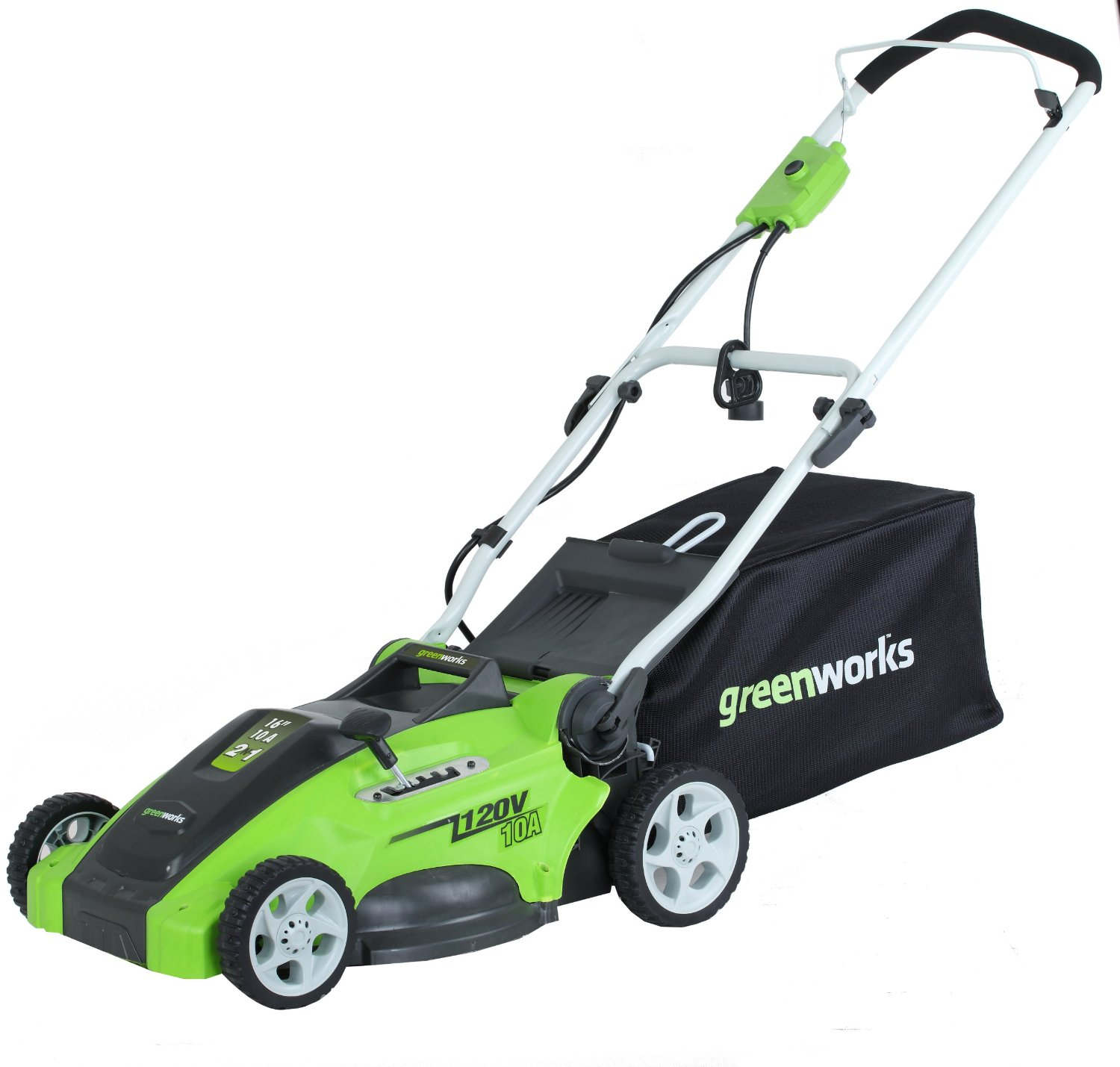 GreenWorks 25142 10 Amp Corded 16 Inch Lawn Mower - Reviews of Top 15 Mother's Day Gift Ideas for Active and Outdoorsy Moms