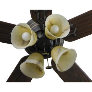 Review of Hampton Bay Carriage House 52 in. Indoor Iron Ceiling Fan (Model: 46011)