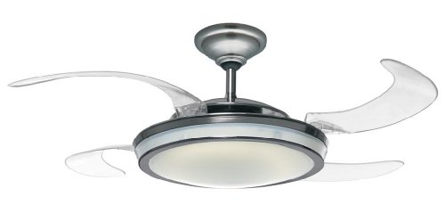 Hunter 48 In Fanaway Brushed Chrome Ceiling Fan With Light Kit And Remote Model