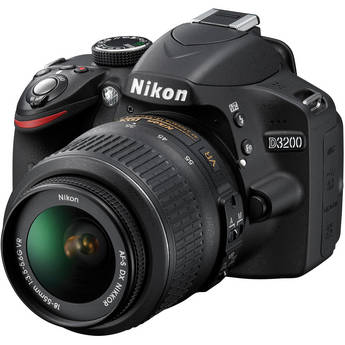 Nikon D3200 Digital SLR Camera with 24.2 Megapixels and 18-55mm Lens
