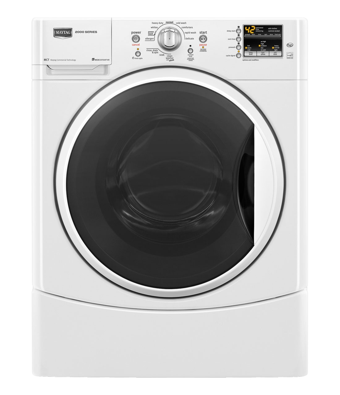 Maytag Performance 3.5 cu ft High-Efficiency Front-Load Washers (White) ENERGY STAR (Model: MHWE201YW)