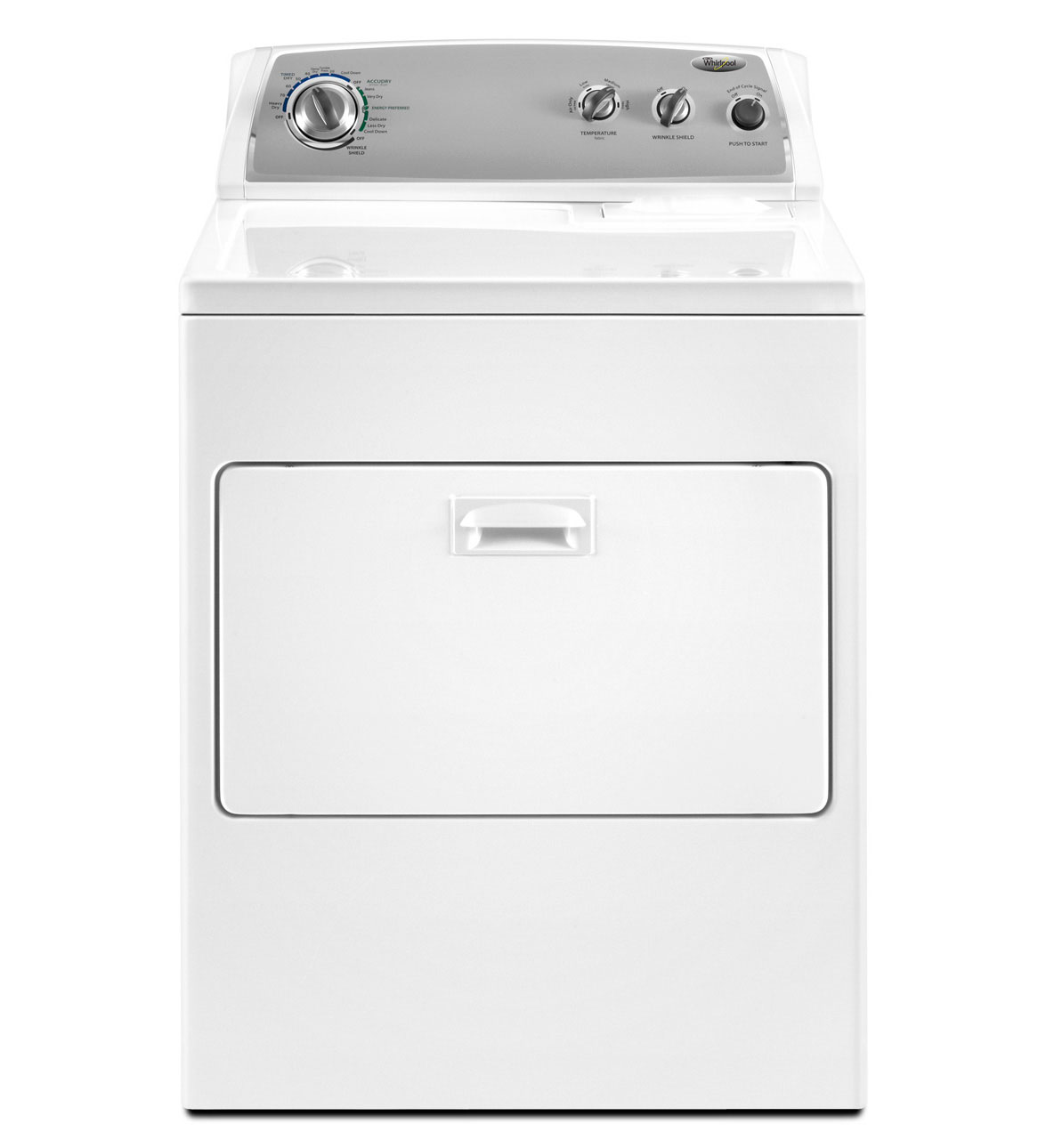 Whirlpool Traditional Electric Dryer with AccuDry Drying System (Model: WED4900XW)