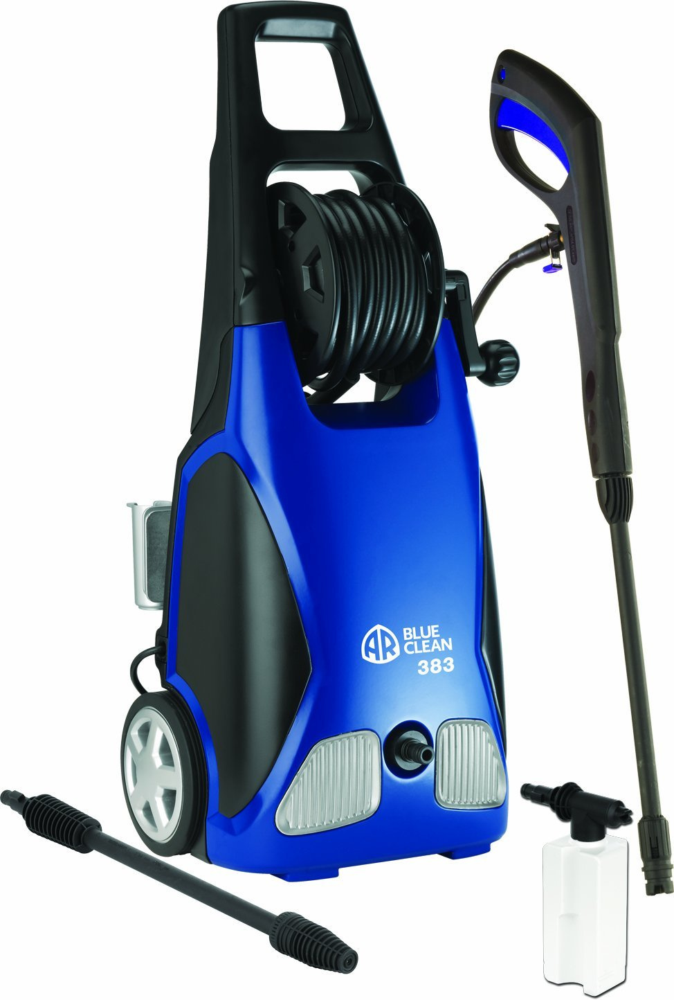 Review of AR Blue Clean AR383 1,900 PSI 1.5 GPM 14 Amp Electric Pressure Washer with Hose Reel