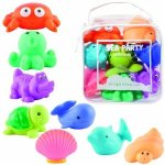 Review of Elegant Baby 8 Piece Bath Squirties Gift Set in Vinyl Zip Bag, Animal
