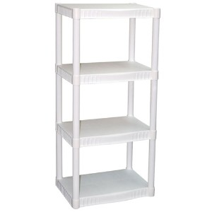 Plano 4-Tier Heavy-Duty Plastic Shelves, White - Reviews of Top 10 Garage and Home Organizers for Clutter Free Living