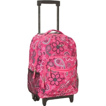 Rockland 17 Inch Rolling Backpack