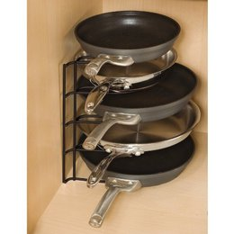 Review of Rubbermaid FG1H4209BLA Pan Organizer Rack, Black