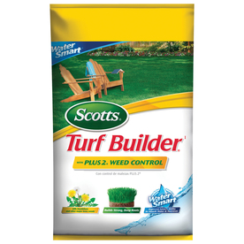 Review of Scotts Turf Builder Fertilizer with Plus 2 Weed Control 5,000 sq ft. (Model: 31805)