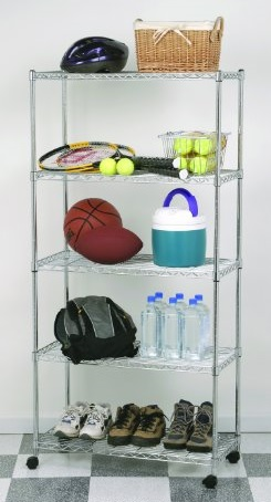 Seville Classics SHE14305 Home Style Mobile 5-Shelf Storage System - Reviews of Top 10 Garage and Home Organizers for Clutter Free Living