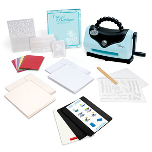 Sizzix Texture Boutique Embossing Machine Beginner's Kit - Reviews of Top 10 Sewing and Embroidery Machines and Supplies - Be Your Own Designer