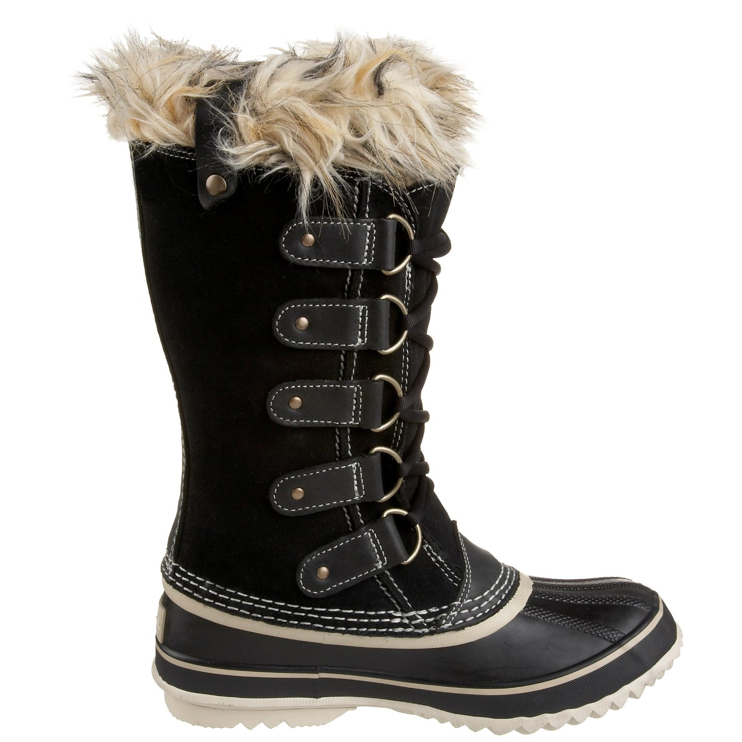 Cool Womens Snow Boot Nylon Tall Winter Fur Lined Snow Warm Quilted Rain