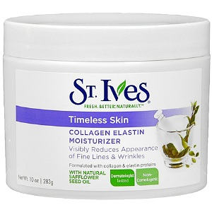 Review of St. Ives Facial Moisturizer, Timeless Skin Collagen Elastin