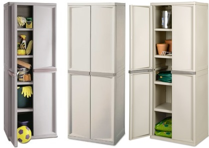 of sterilite 4-shelf utility storage cabinet, putty 01428501