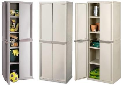 of sterilite 4-shelf utility storage cabinet, putty 01428501