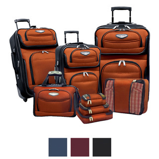 Travel Select by Traveler's Choice Amsterdam II 8-piece Deluxe Packing Luggage Set - Reviews of 10 Most Popular Luggage Sets and Bags - Travel in Style