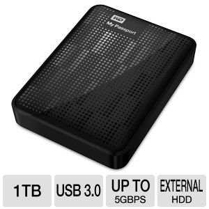 Review of Western Digital My Passport 1 TB USB 3.0 Portable  ...