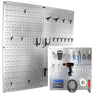 Wall Control 30-P-3232GV Galvanized Steel Pegboard Pack - Reviews of Top 10 Kitchen Storage and Organization Items - Get the Best Out of Your Kitchen Space