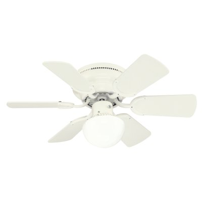 Westinghouse 78108 Petite 6-Blade 30-Inch 3-Speed Hugger-Style Ceiling Fan with Light