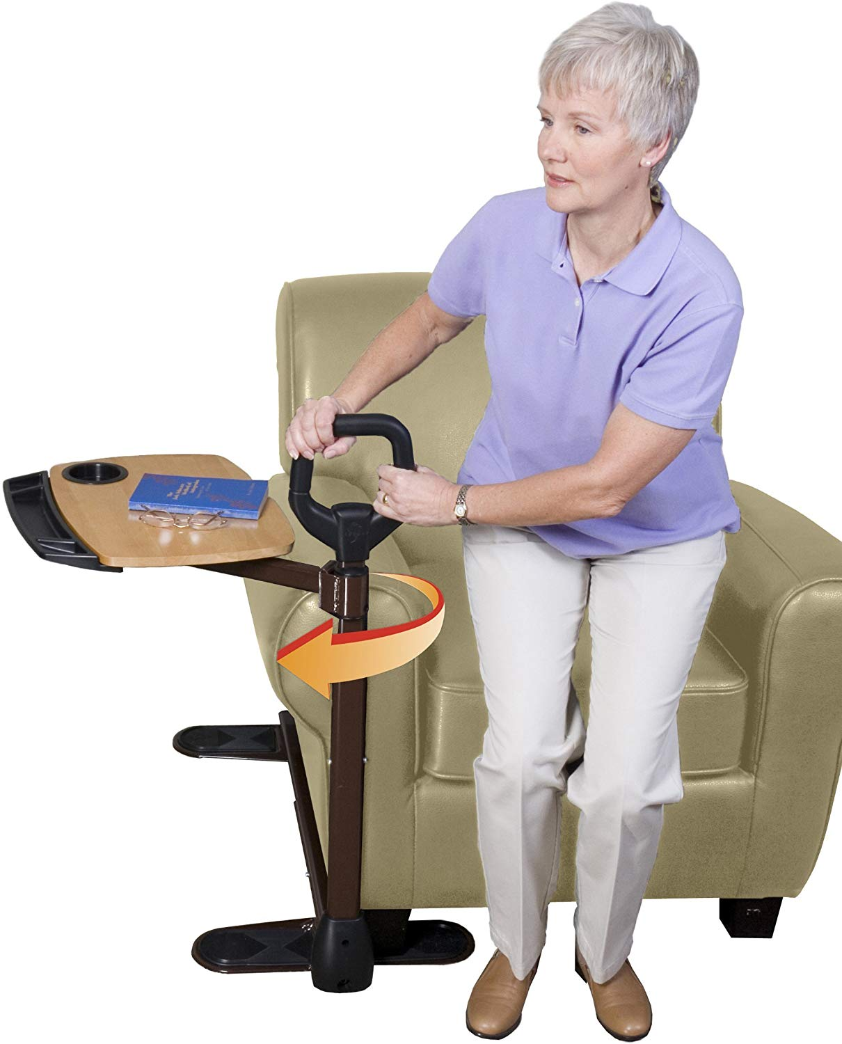 Review of Able Life Able Tray Table, with Ergonomic Stand Assist Safety Handle, Independent Living Aid
