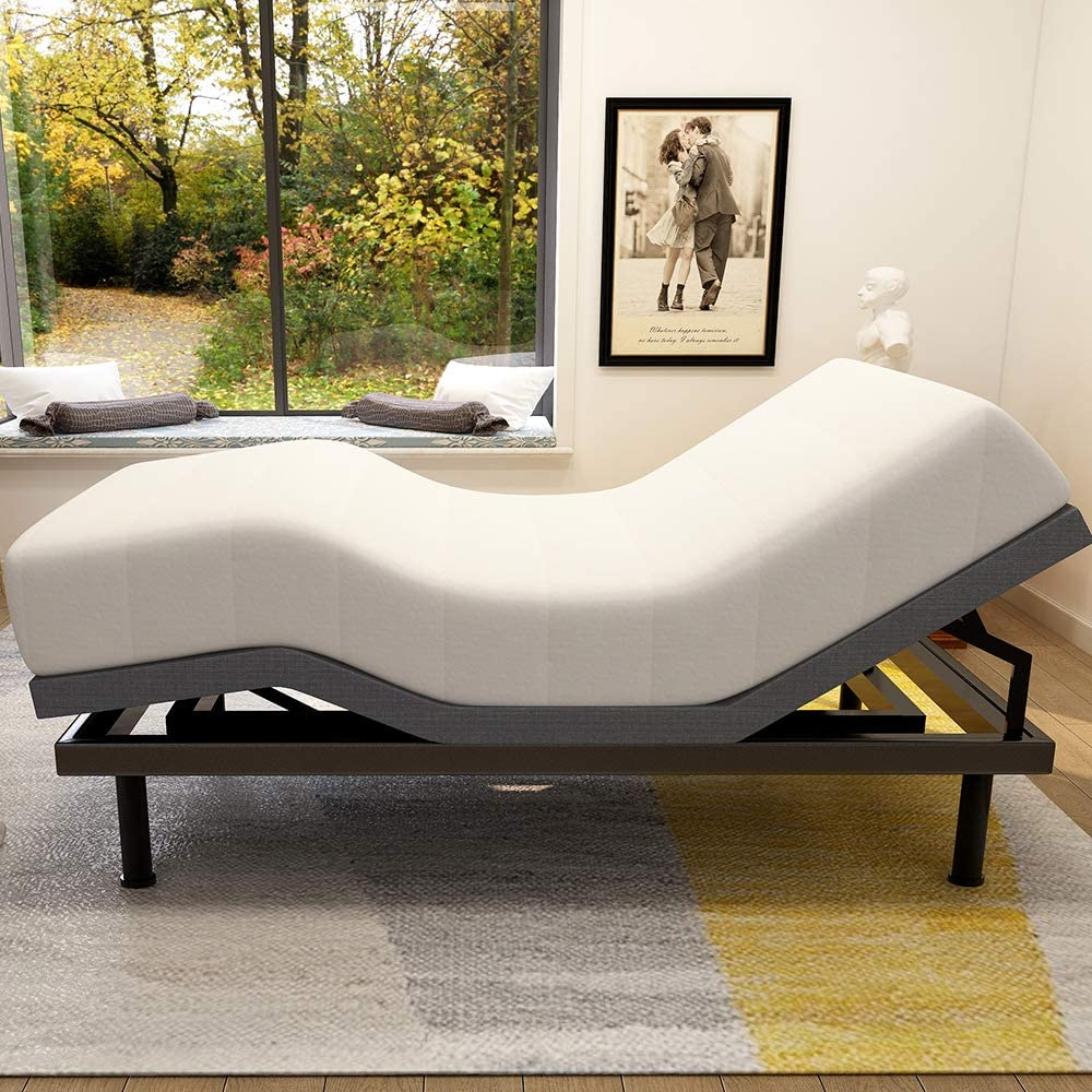 Review of Adjustable Bed Base Frame Smart Electric Beds Foundation (Twin XL, Gray)