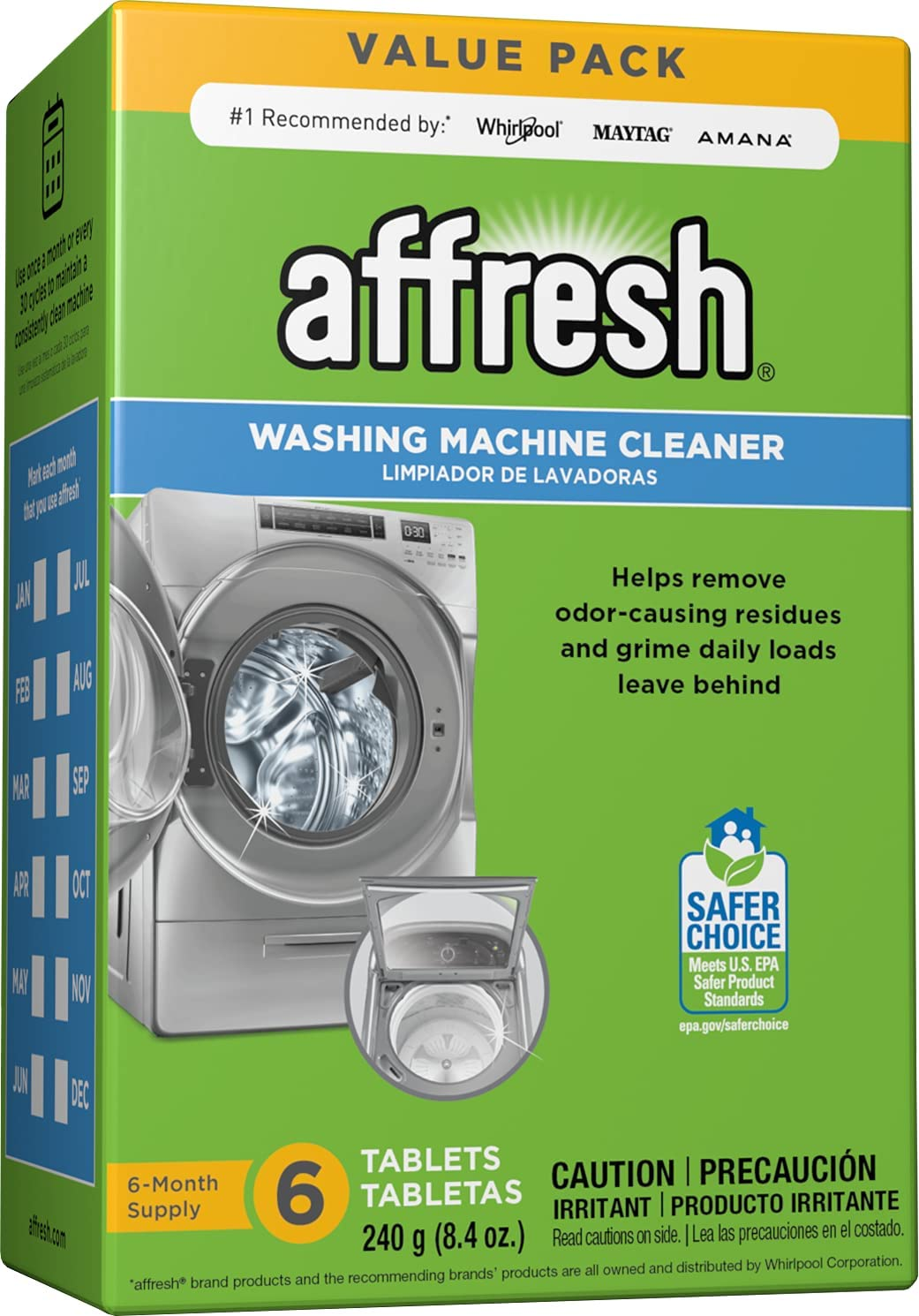 Review of Affresh Washer Machine Cleaner, Whiite , 6-Tablets, 8.4 oz - W10501250
