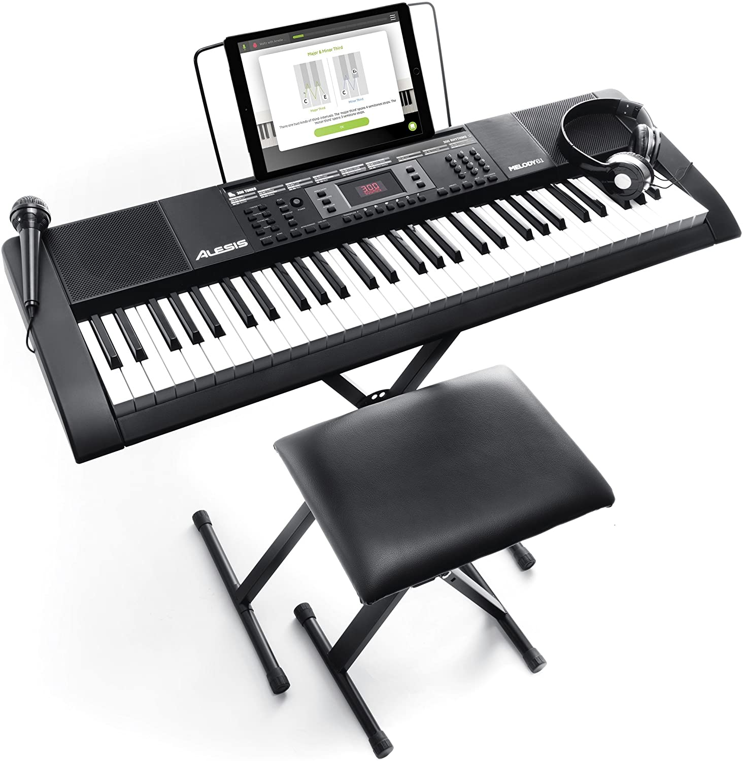 Review of Alesis Melody 61 MKII | 61 Key Portable Keyboard Piano with Built In Speakers, Headphones, Microphone