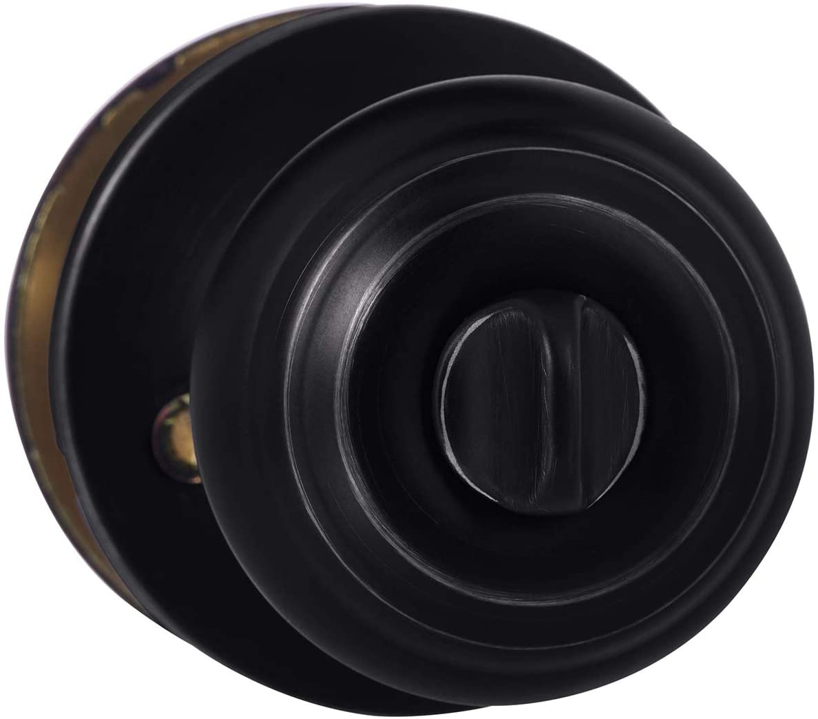 Review of AmazonBasics Bedroom/Bathroom Door Knob With Lock, Classic, Matte Black