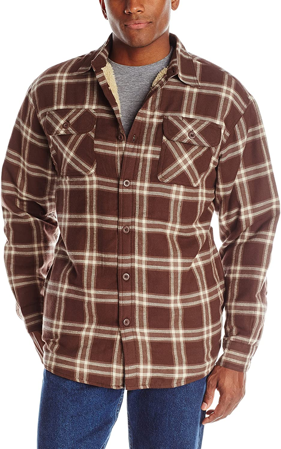 Review of Authentics Men's Long Sleeve Sherpa Lined Shirt Jacket