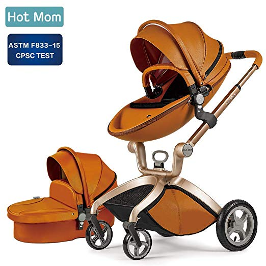 Review of Baby Stroller 2018, Hot Mom Baby Carriage with Bassinet Combo
