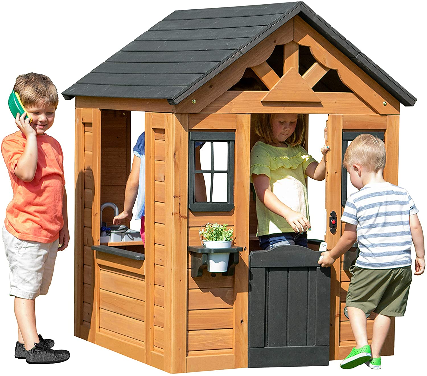 Review of Backyard Discovery Sweetwater All Cedar Wooden Playhouse