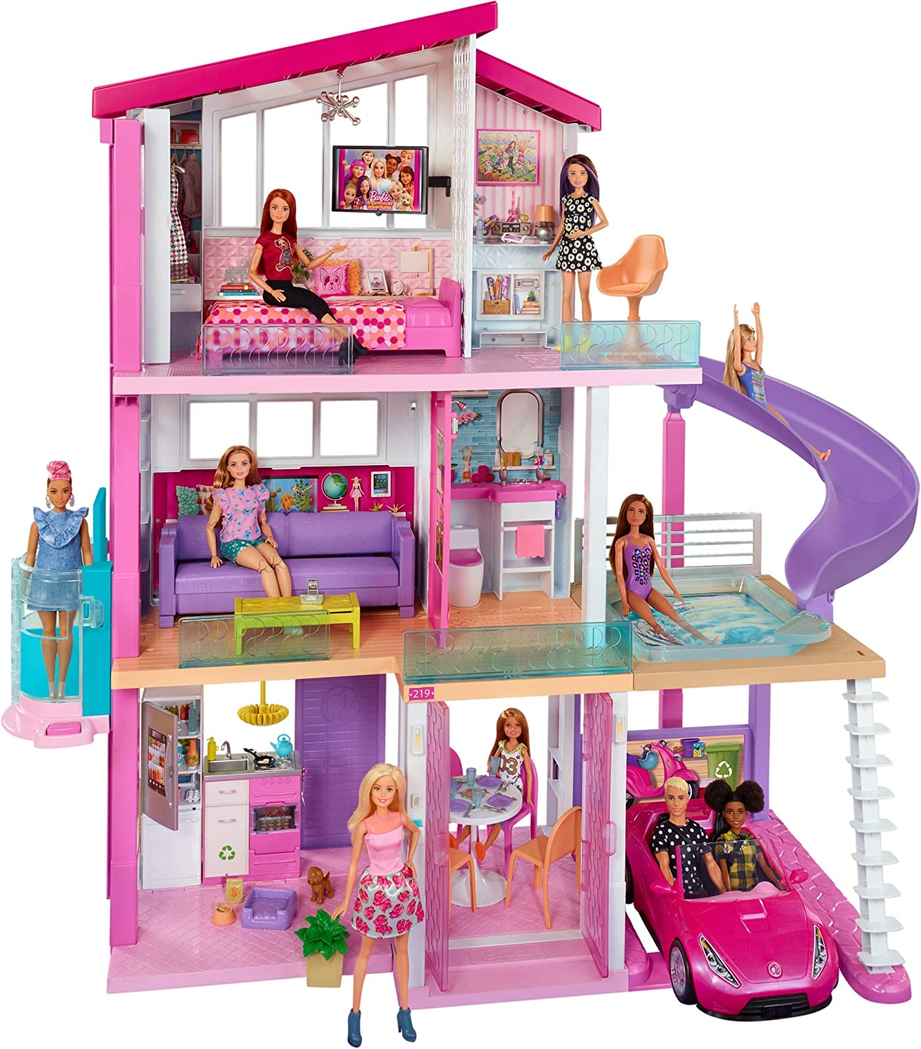 Review of Barbie Dreamhouse Dollhouse with Pool, Slide and Elevator