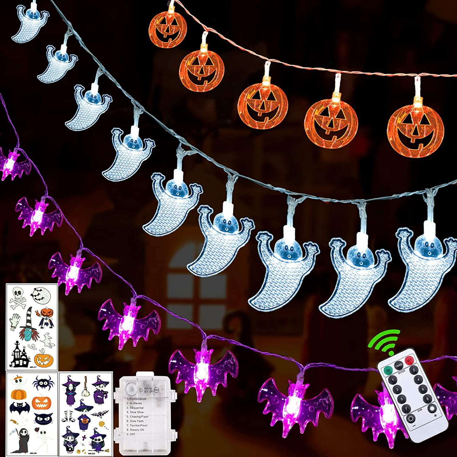 Review of Battery Operated Halloween Outdoor Lights by Halloween Decorations