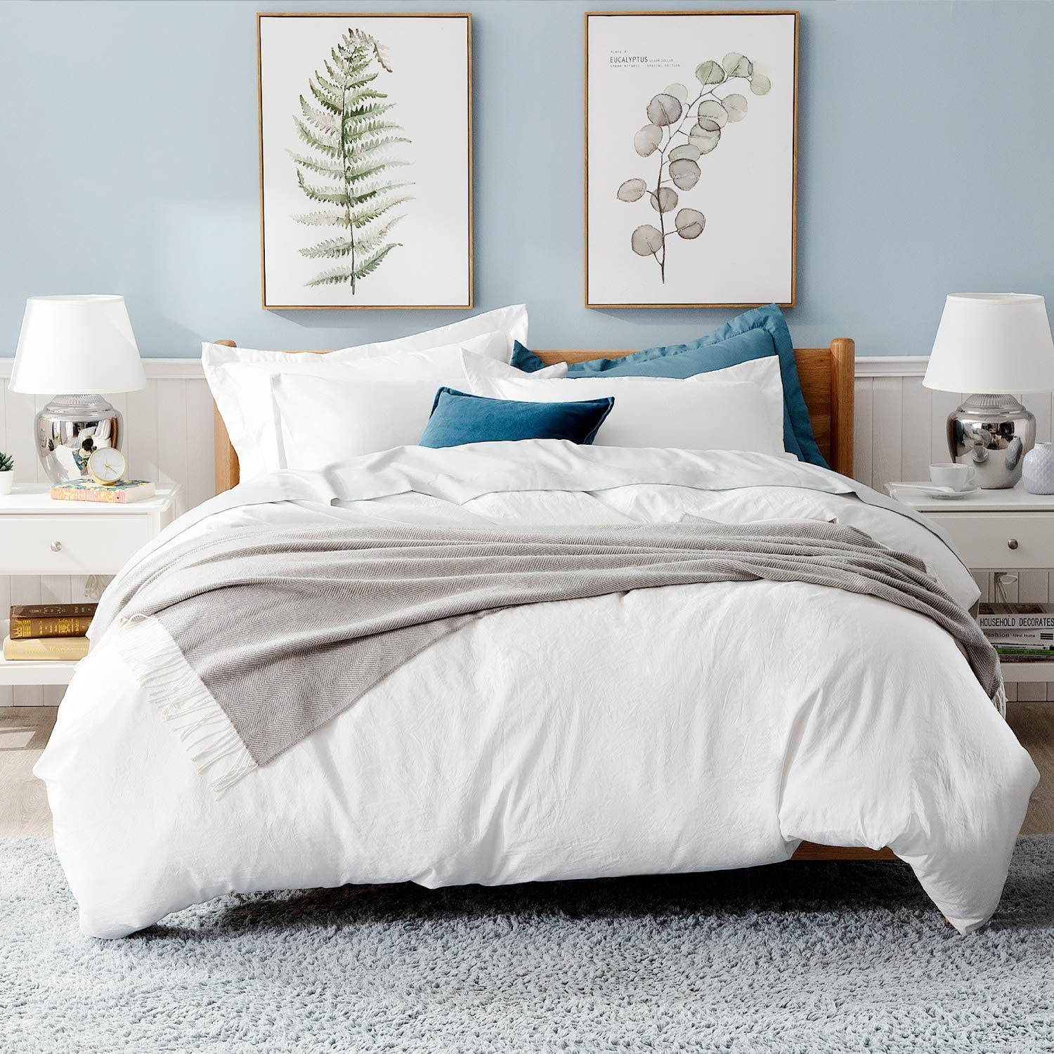 Review of Bedsure White Duvet Covers Queen Size Set 90x90 Full Queen Size with Zipper Closure