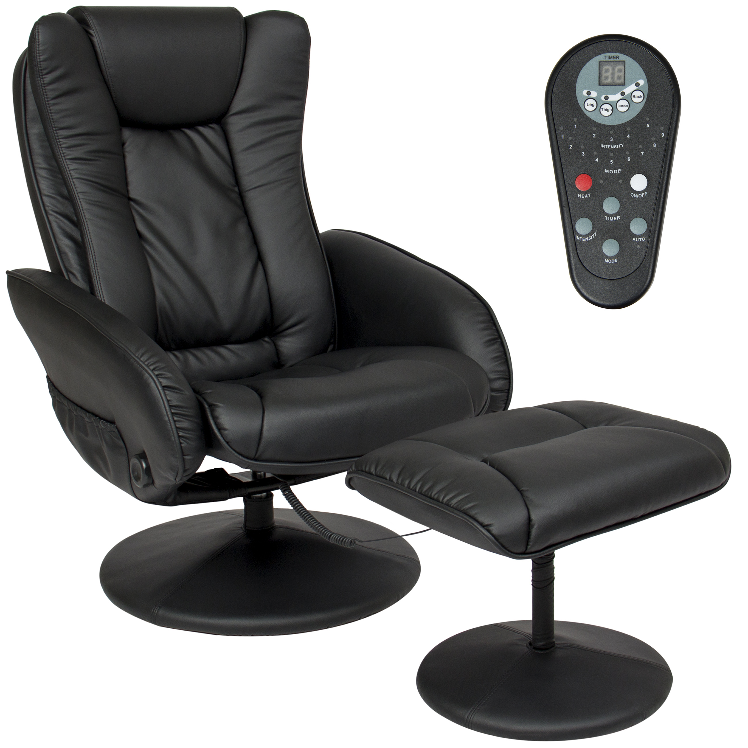 Review of Best Choice Products Faux Leather Electric Massage Recliner Chair w/ Stool Ottoman