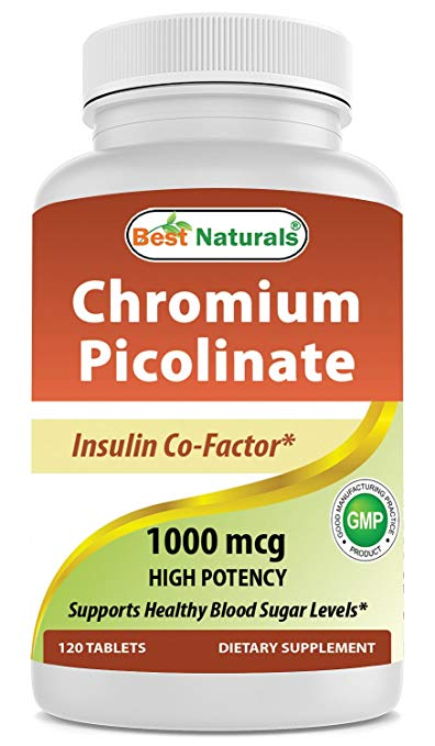 Review of Best Naturals Chromium Picolinate 1000 mcg 120 Tablets