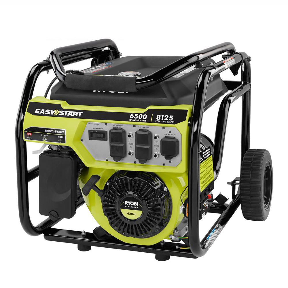 Review of Best Seller RYOBI 6,500-Watt Gasoline Powered Portable Generator with CO Shutdown Sensor