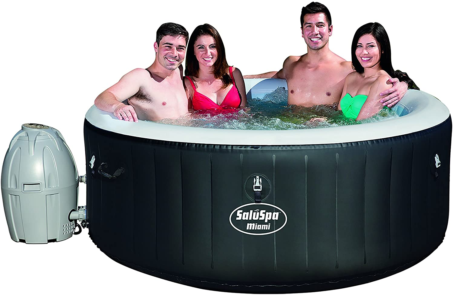 Review of Bestway SaluSpa Miami Inflatable Hot Tub, 4-Person AirJet Spa